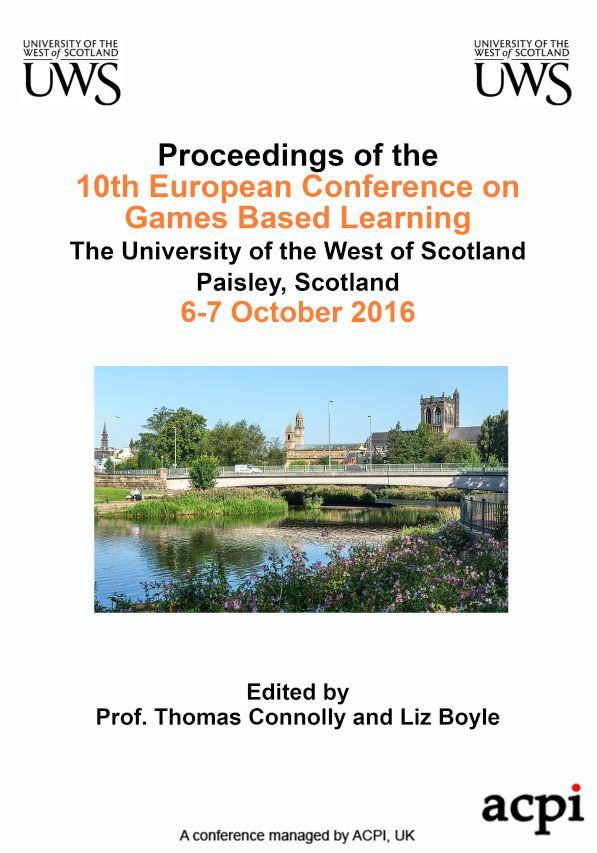 ECGBL 2016 Proceedings