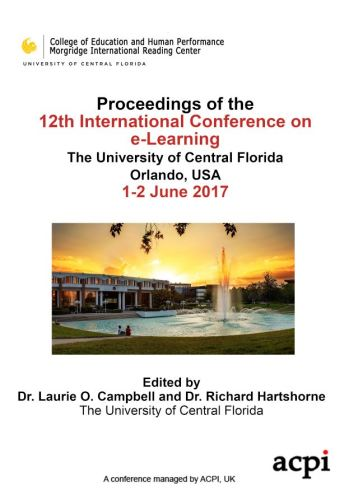 ICEL 2017 - Proceedings of the 12th International Conference on e- Learning PRINT VERSION