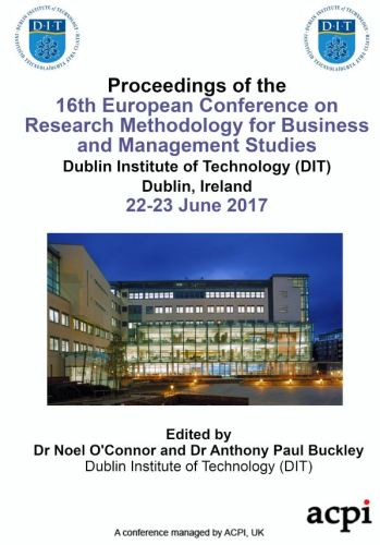 ECRM 2017 PDF - Proceedings of the 16th European Conference on Research Methods in Business and Management