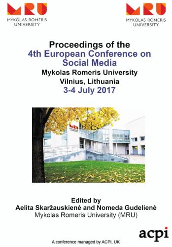 ECSM 2017 - Proceedings of the 4th European Conference on Social Media PRINT VERSION