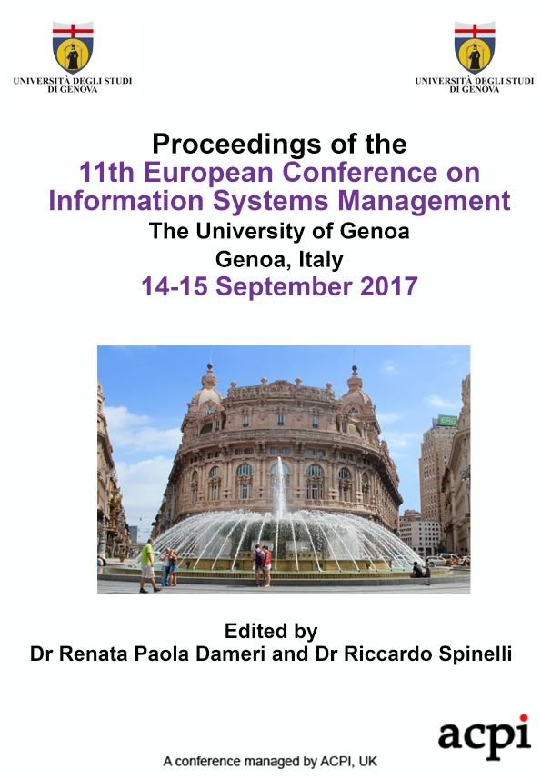 ECISM 2017 PDF - Proceedings of the 11th European Conference on Information Systems Management
