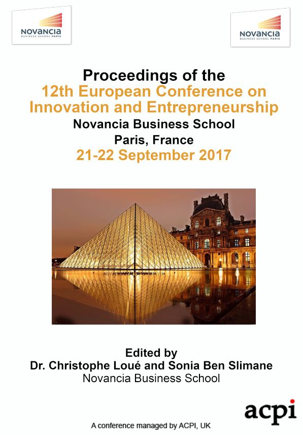 ECIE 2017 PDF - Proceedings of the 12th European Conference on Innovation and Entrepreneurship