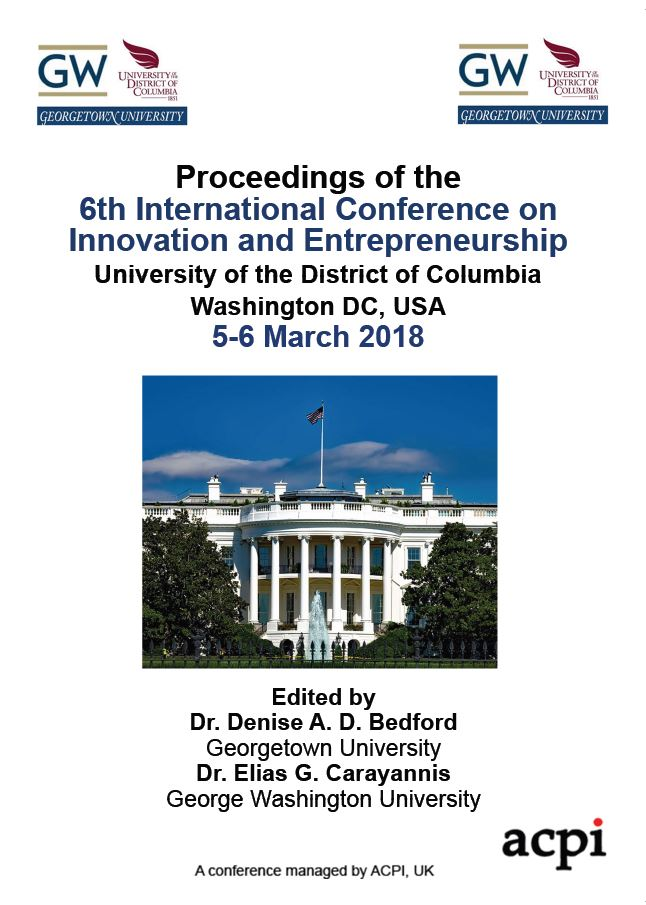 ICIE 2018 PDF - Proceedings of the 6th International Conference on Innovation and Entrepreneurship