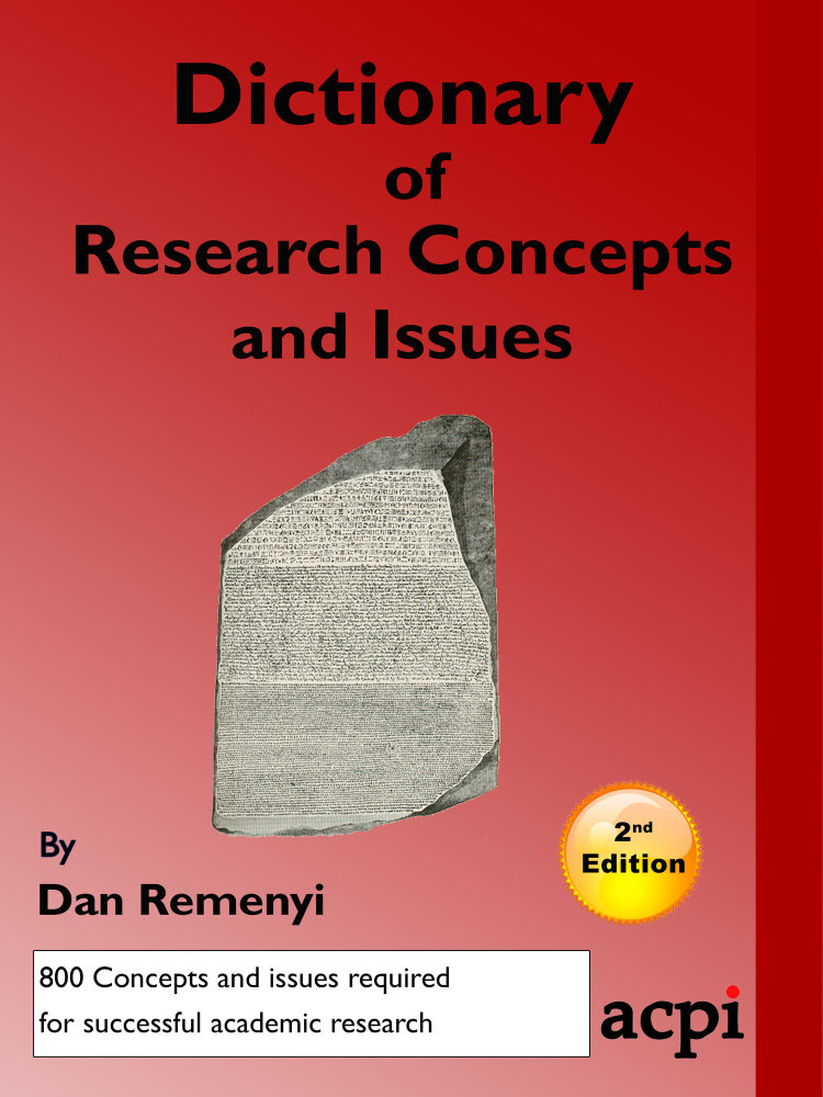 Dictionary of Research Concepts and Issues - Second Edition