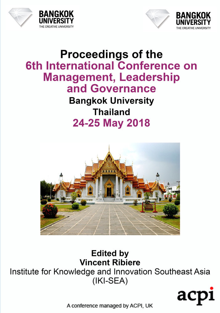 ICMLG 2018 PDF - Proceedings of the 6th International Conference on Management, Leadership and Governance