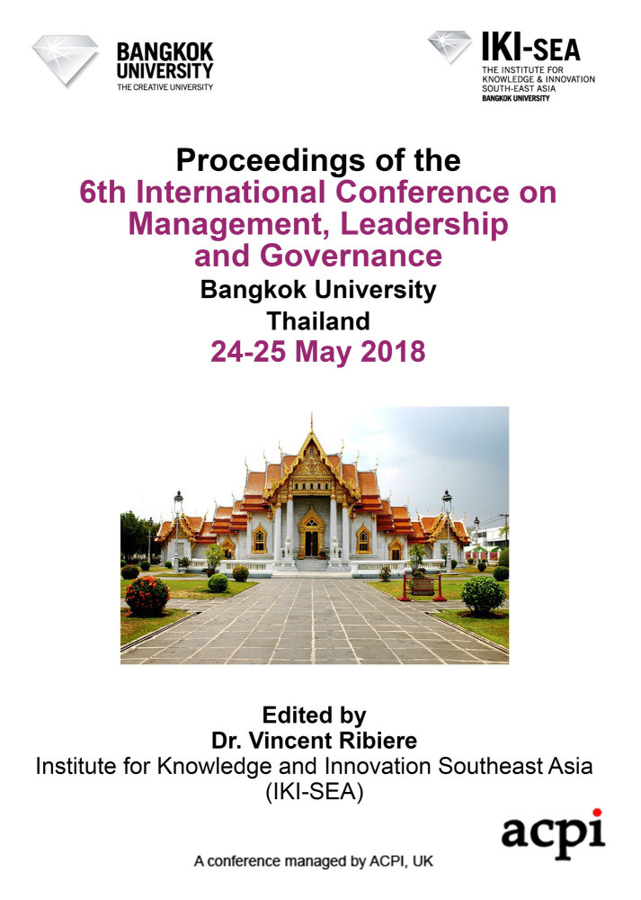 ICMLG 2018 - Proceedings of the 6th International Conference on Management, Leadership and Governance PRINT VERSION