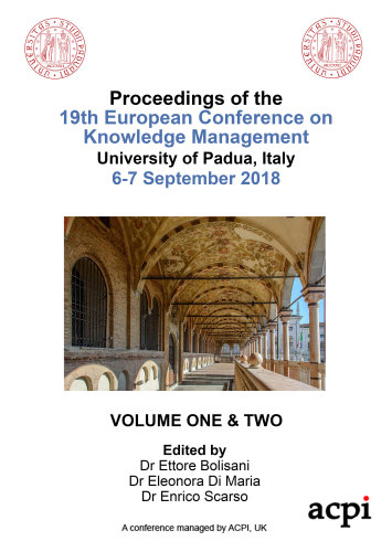ECKM 2018 PDF - Proceedings of the 19th European Conference on Knowledge Management