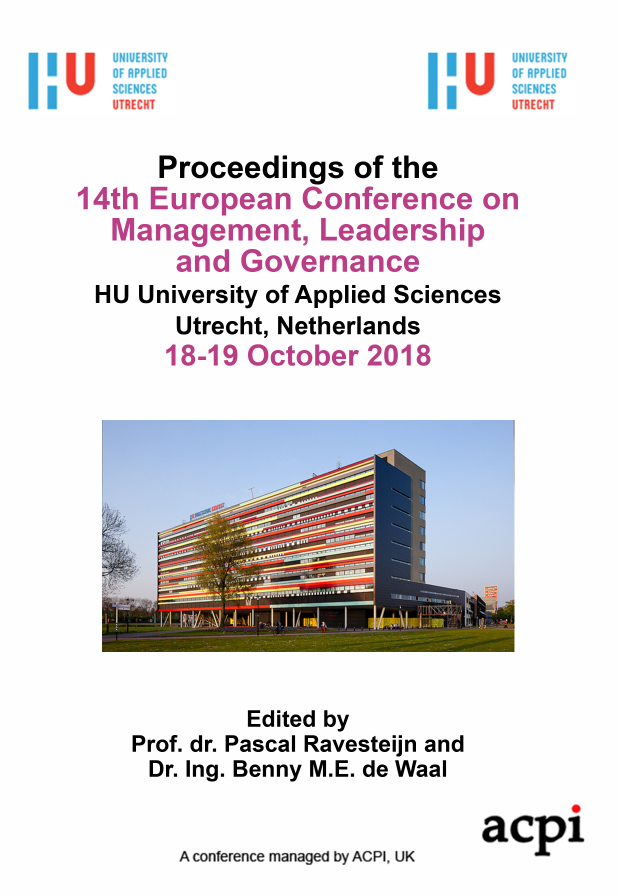ECMLG 2018 PDF - Proceedings of the 14th European Conference on Management, Leadership and Governance