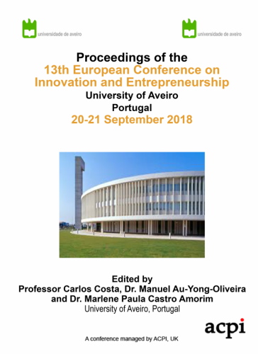 ECIE 2018 PDF - The Proceedings of the 13th European Conference on Innovation and Entrepreneurship