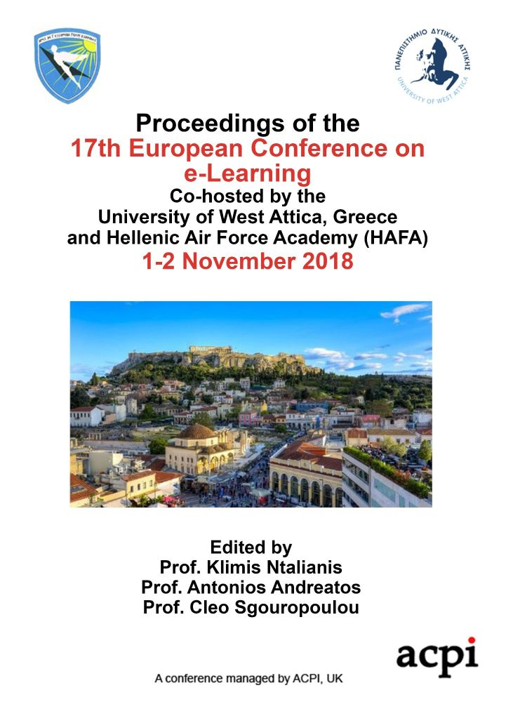 ECEL 2018 PDF - Proceedings of the 17th European Conference on e-Learning