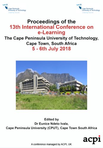 ICEL 2018 - Proceedings of the 13th International Conference on e-Learning PRINT VERSION