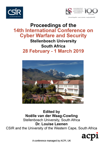 ICCWS 2019 PDF - Proceedings of the 14th International Conference on Cyber Warfare and Security