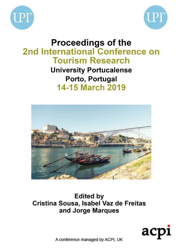 ICTR 2019 - Proceedings of the 2nd International Conference on Tourism Research PRINT VERSION