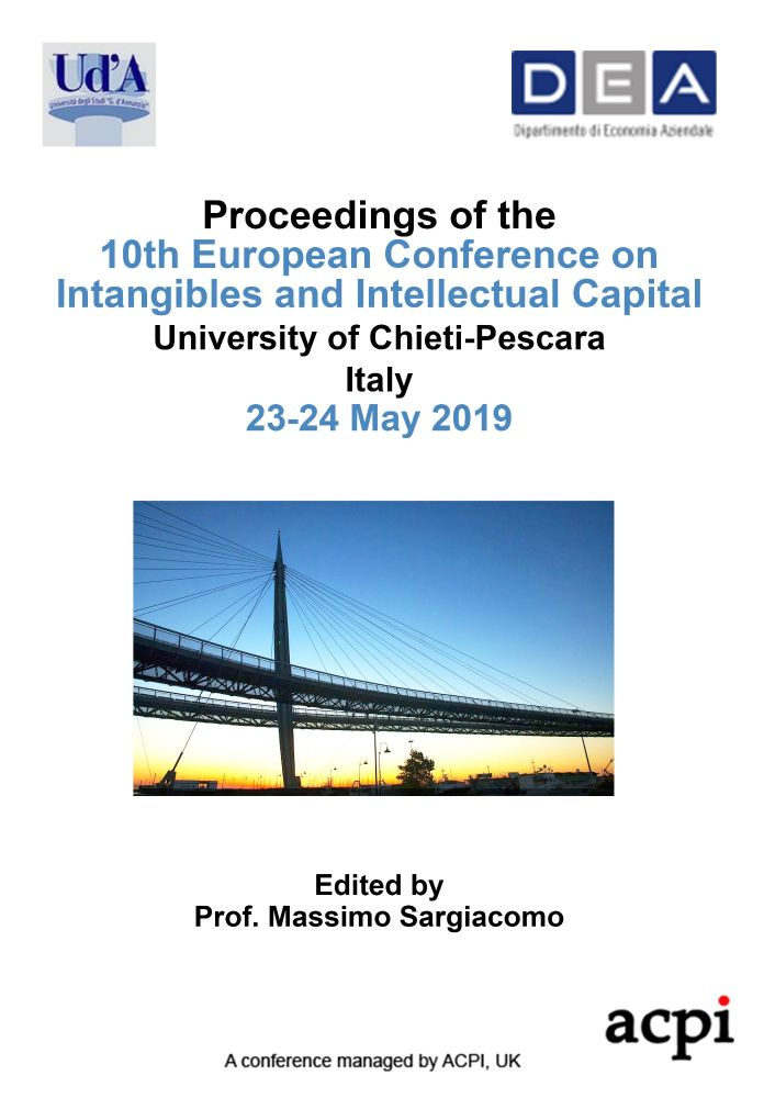 ECIIC 2019 - Proceedings of the 10th European Conference on Intangibles and Intellectual Capital PRINT VERSION