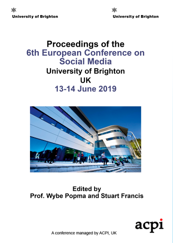 ECSM 2019 - Proceedings of the 6th European Conference on Social Media PRINT VERSION