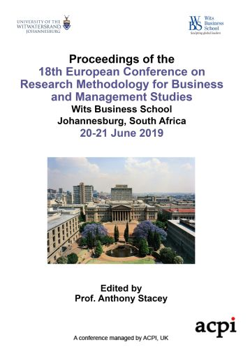 ECRM 2019 PDF - Proceedings of the 18th European Conference on Research Methodology for Business and Management Studies