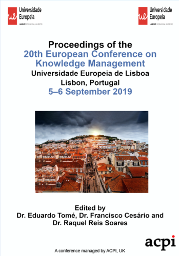 ECKM 2019 PDF - Proceedings of the 20th European Conference on Knowledge Management