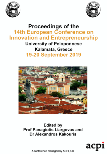 ECIE 2019 - Proceedings of the 14th European Conference on Innovation and Entrepreneurship PRINT VERSION