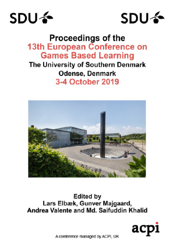 ECGBL 2019 PDF - The Proceedings of the 13th International Conference on Game Based Learning