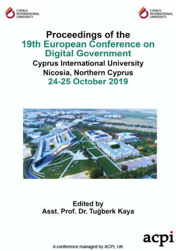 ECDG 2019 - Proceedings of the 19th European Conference on Digital Government PRINT VERSION