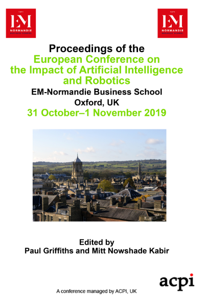 ECIAIR 2019 - Proceedings of the European Conference on the Impact of Artificial Intelligence and Robotics PRINT VERSION