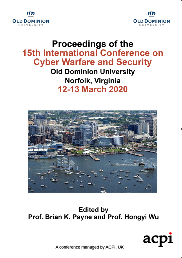 ICCWS 2020 PDF - Proceedings of the 15th International Conference on Cyber Warfare and Security
