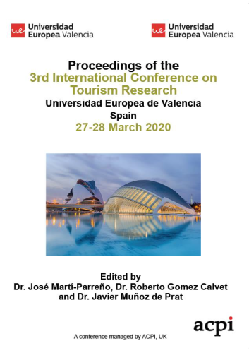 ICTR 2020-Proceedings of the 3rd International Conference on Tourism Research PRINT VERSION