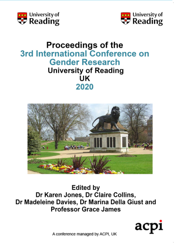 ICGR 2020-Proceedings of the 3rd International Conference on Gender Research PRINT VERSION