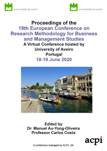 ECRM 2020-Proceedings of the 19th European Conference on Research Methods PRINT VERSION