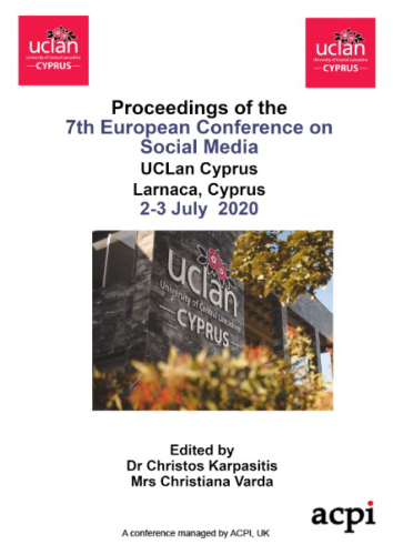ECSM 2020- Proceedings of the 7th European Conference on Social Media PRINT VERSION