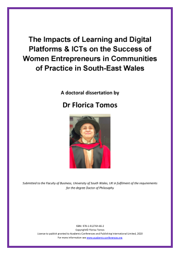 The Impacts of Learning and Digital Platforms & ICTs on the Success of Women Entrepreneurs in Communities of Practice in South-East Wales