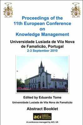 ECKM 2010 - 11th European Conference on Knowledge Management - Famalico, Portugal. PRINT version