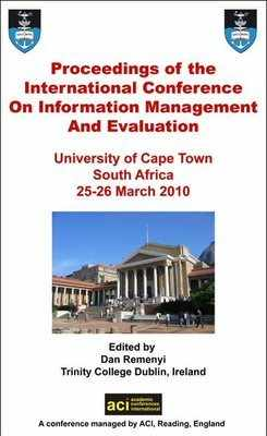 ICIME 2010 - 1st International Conference on Information Management and Evaluation - Cape Town, South Africa. PRINT version