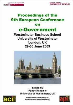 ECEG 2009 - 9th European Conference on eGovernment – London, UK - PRINT version