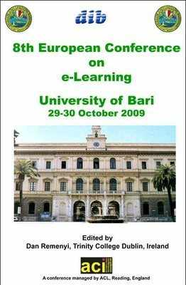 ECEL 2009 - 8th European Conference on eLearning – Bari, Italy