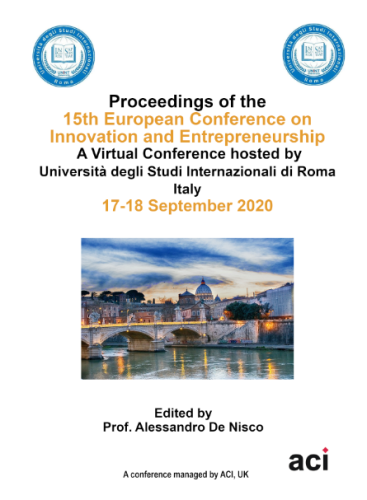 ECIE 2020 - Proceedings of the  15th European Conference on Innovation and Entrepreneurship - PRINT VERSION