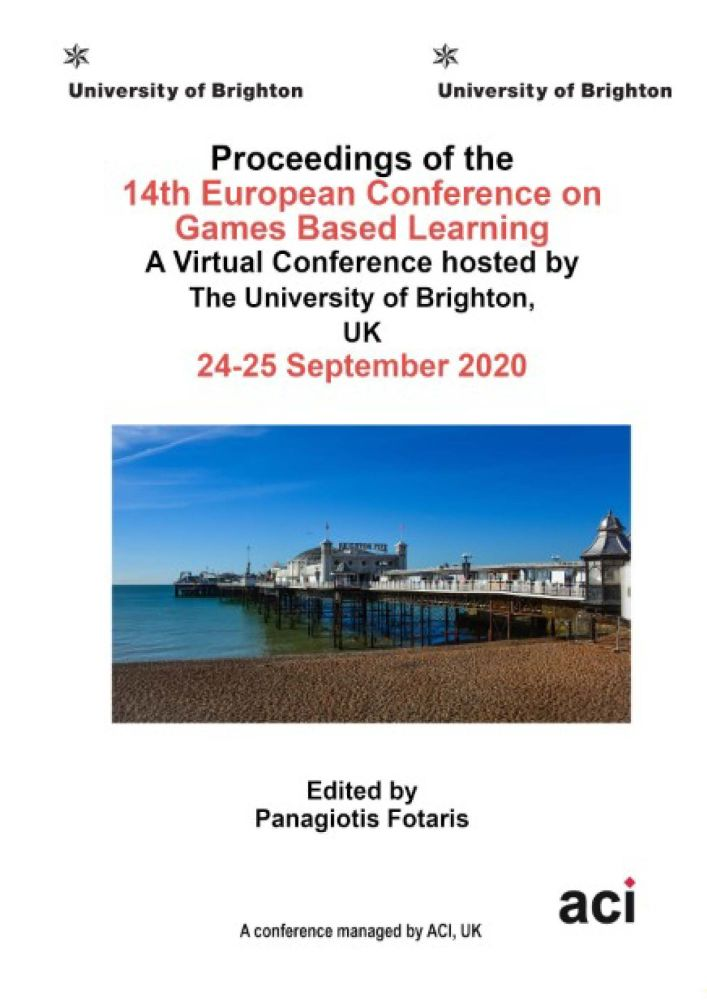ECGBL 2020 - Proceedings of the   13th European Conference on Game Based Learning - PRINT VERSION