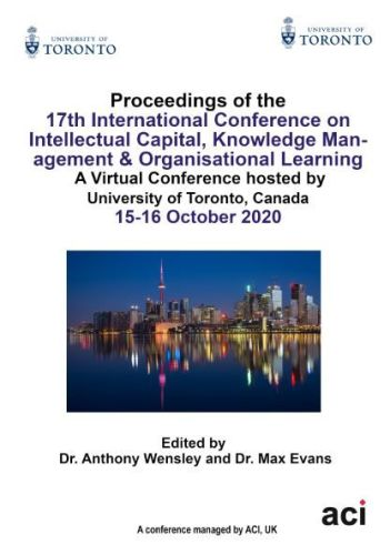 ICICKM 2020 - Proceedings of the  17th International Conference on Intellectual Capital, Knowledge Management & Organisational Learning - PRINT VERSIO