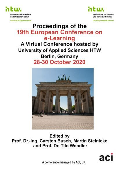 ECEL 2020 - Proceedings of the  19th European Conference on e-Learning - PRINT VERSION
