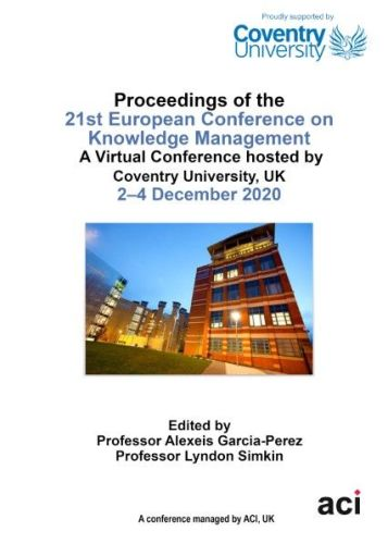ECKM 2020 - Proceedings of the 21st European Conference on Knowledge Management PRINT VERSION