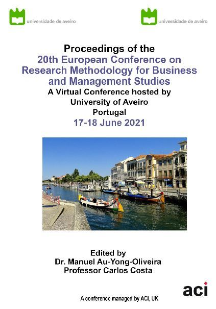 ECRM 2021-Proceedings of the 20th European Conference on Research Methodology for Business  and Management Studies