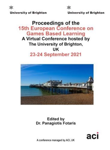 ECGBL 2021 PDF VERSION- Proceedings of the 15th European Conference on  Game Based Learning