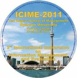 ICIME 2011 2nd International Conference on Information Management and Evaluation - Toronto, Canada. CD version