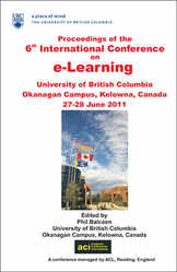 <!--010-->ICEL 2011 - 6th International Conference on e-Learning - Kelowna, Canada - PRINT version