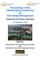<!--010-->ECKM 2011 - 12th European Conference on Knowledge Management - Passau, Germany - PRINT version