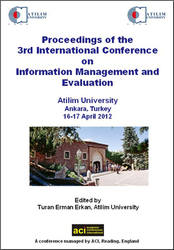 ICIME 2012 3rd International Conference on Information Management and Evaluation. Ankara, Turkey PRINT version