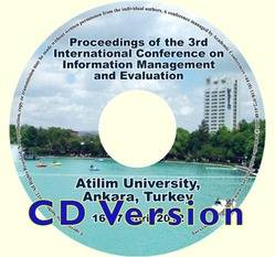 ICIME 2012 3rd International Conference on Information Management and Evaluation. Ankara, Turkey CD version
