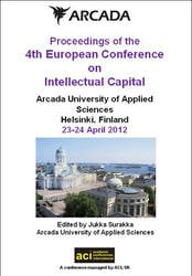 ECIC 2012 4th Europen Conference on Intellectual Capital. Helsinki, Finland  PRINT version