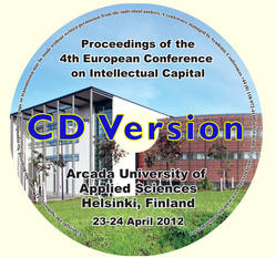 ECIC 2012 4th Europen Conference on Intellectual Capital. Helsinki, Finland  CD version