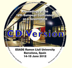 ECEG 2012 Proceedings of the 12th European Conference on eGovernment, Barcelona, Spain CD version